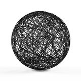 Abstract structure ball consist of black lines. Royalty Free Stock Image