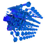 Abstract structure in blue Stock Photography