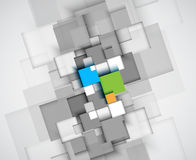 Abstract structure circuit computer cube technology business bac royalty free illustration