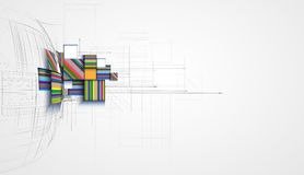 abstract structure circuit computer cube technology business background royalty free illustration