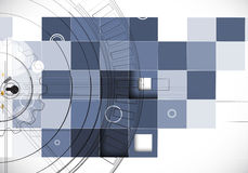 Abstract structure circuit computer cube technology business bac Stock Photography