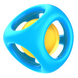 Abstract structure. 3d illustration of abstract structure, blue and orange plastic Stock Image