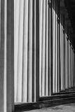 Abstract structure of grey columns-Vienna, Austria Royalty Free Stock Photography