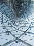 Abstract structure. Of the iron roof Royalty Free Stock Images