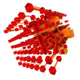 Abstract structure in red and orange Stock Image