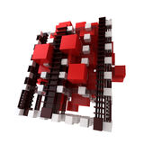 Abstract structure in red and white Stock Image