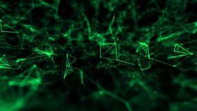 Abstract structure technology science background green with connected line. Geometric abstract background with connected line and dots. Structure molecule and vector illustration