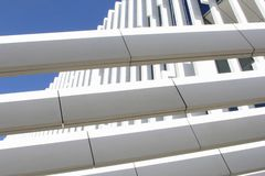 Abstract structures EDP Headquarters building, Lisbon, Portugal Royalty Free Stock Images
