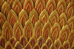 Abstract stucco feather Stock Image