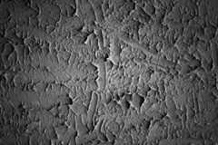 Abstract stucco wall background. black and white Royalty Free Stock Image