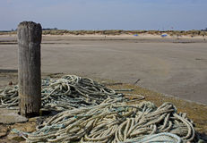 Abstract study of Rope, beadnall, northumberland. Royalty Free Stock Image