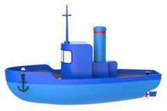 Abstract stuk speelgoed schip Royalty-vrije Stock Foto's