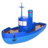Abstract stuk speelgoed schip Royalty-vrije Stock Afbeelding