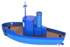 Abstract stuk speelgoed schip Stock Afbeelding