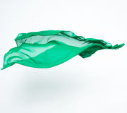 Abstract stuk van het groene stof vliegen Royalty-vrije Stock Afbeelding