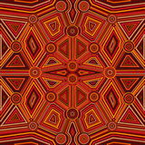 Abstract style of Australian Aboriginal art Stock Image