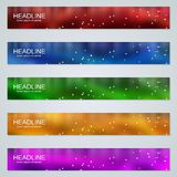 Abstract colorful web banners templates. Abstract style colorful web banners vector design templates collection stock illustration
