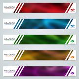 Abstract colorful web banners vector templates. Abstract style colorful web banners vector templates collection royalty free illustration