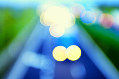 Abstract style - Defocused highway lights Royalty Free Stock Photo
