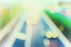 Abstract style - Defocused Pastel highway lights Stock Image
