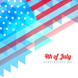 Abstract style independence day background Royalty Free Stock Image