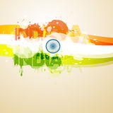 Abstract style indian flag. Illustration Royalty Free Stock Photography