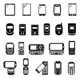 Abstract style modern and vintage mobile gadgets Royalty Free Stock Image