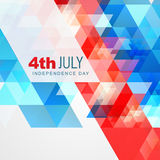 Abstract style 4th of july Stock Images