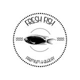Abstract Styling Fish Label Isolated On Background Royalty Free Stock Image