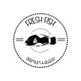 Abstract Styling Fish Label Isolated On Background Royalty Free Stock Photo