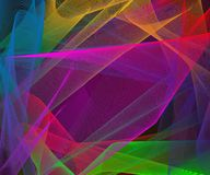 Abstract stylish colorful background with plastic multicolored meshed shapes. Creative vector illustration stock illustration
