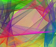 Abstract stylish colorful background with plastic multicolored meshed shapes. Creative vector illustration Stock Photo