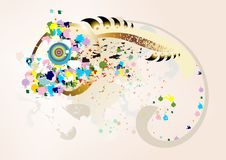 Abstract stylish fish background Stock Photo