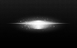 Abstract stylish light effect on a transparent background. White glowing neon lines in motion. White luminous dust and glare. Flas. H Light. luminous way. Vector stock illustration