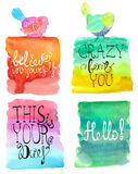Abstract stylish watercolor background collection Stock Photography