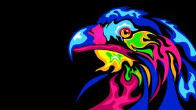 The abstract stylization of the eagle vector illustration