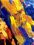 Abstract stylized acrylic painting on textured canvas Royalty Free Stock Photos