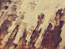 Abstract stylized acrylic painting on textured canvas Stock Photo