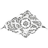 Abstract stylized B&W horrid eye royalty free illustration