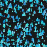 Abstract stylized chaotic pine tree background - winter vector decoration design with Christmas trees Royalty Free Stock Image