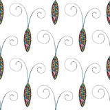 Abstract stylized cockroaches pattern. Hand drawn beetles  background. Stock Photo