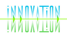Abstract stylized design inscription innovation Stock Image