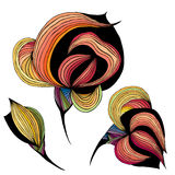 Abstract stylized flowers Stock Image