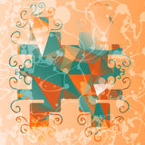 Abstract stylized frame triangles background Royalty Free Stock Image
