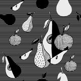 Abstract stylized fruits. Sketch style Royalty Free Stock Image