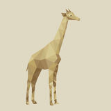 Abstract stylized giraffe vector illustration Royalty Free Stock Images