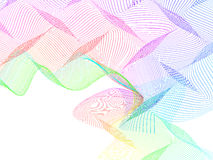 Abstract stylized lines, vector Royalty Free Stock Image