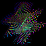 Abstract stylized lines, vector Royalty Free Stock Photography