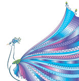 Abstract stylized peacock greeting card. Invitation. Royalty Free Stock Photos