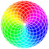 Abstract Stylized Rainbow Wheel. Background Royalty Free Stock Image